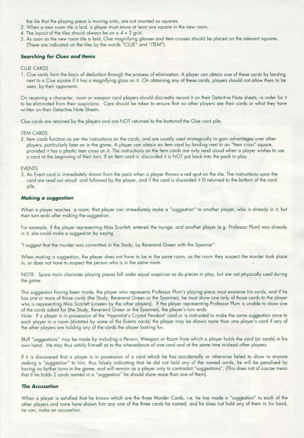 Clue Instructions Pdf Best Setting Instruction Guide